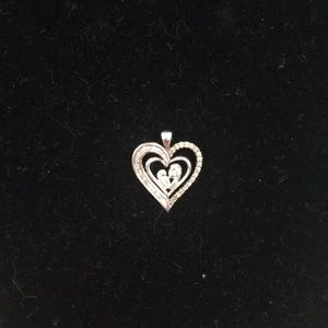 Kay Jewelers Mother baby sterling silver pendant